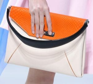 Dior Beige/Orange Flap Bag - Cruise 2014