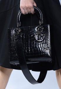Dior Black Crocodile Lady Dior Medium Bag - Cruise 2014