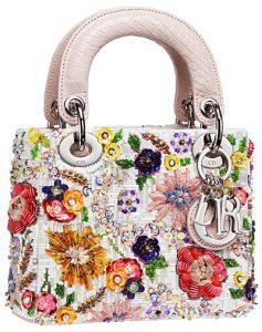 Dior Floral Beaded Lady Dior Mini Bag