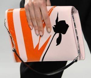 Dior Pink/Orange Flap Bag - Cruise 2014