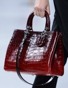 Dior Red Ombre Diorissimo Bag - Cruise 2014