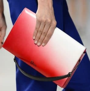 Dior Red Ombre Flap Bag - Cruise 2014