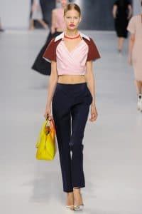 Dior Yellow Dior Bar Bag - Cruise 2014 Runway