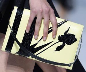 Dior Yellow/Black Flap Bag - Cruise 2014