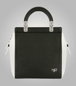 Givenchy Black/Ivory Grained Leather House De Givenchy Small Tote Bag