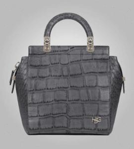Givenchy Grey Crocodile-Style House De Givenchy Tote Small Bag