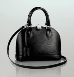 Louis Vuitton Black Epi Alma BB Bag