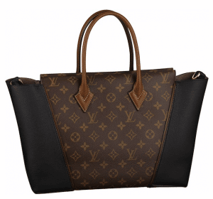 Louis Vuitton Black Monogram Canvas with Cuir Orfevre sides W PM Bag