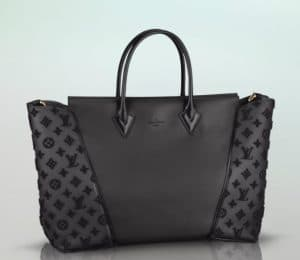 Louis Vuitton Black Tufted W Bag