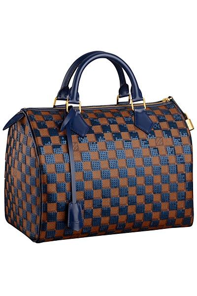 Louis Vuitton Blue Damier Paillettes Sdy 30 Bag