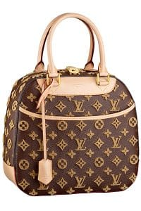 Louis Vuitton Caramel Monogram Tuffetage Canvas Deauville Cube Bag