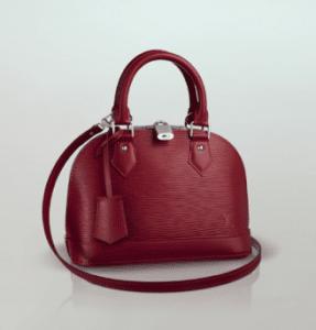 Louis Vuitton Carmine Epi Alma BB Bag