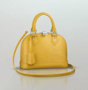 Louis Vuitton Citron Epi Alma BB Bag