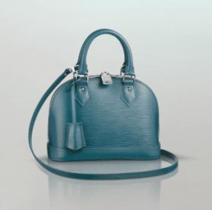 Louis Vuitton Cyan Epi Alma BB Bag