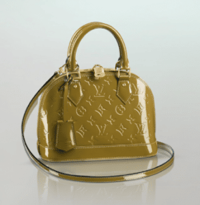 Louis Vuitton Green Olive Monogram Vernis Alma BB Bag