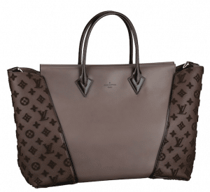 Louis Vuitton Gris Cuir Orfevre/Veau Cachemire W GM Bag