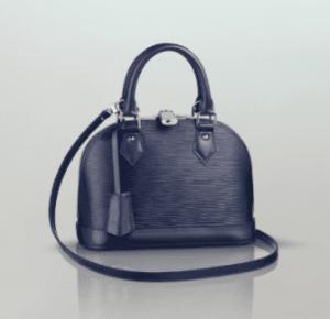 Louis Vuitton Indigo Epi Alma BB Bag