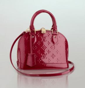 Louis Vuitton Pomme D' Amour Monogram Vernis Alma BB Bag