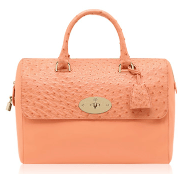 ... discount code for mulberry bright apricot classic calfostrich mix del  rey bag 18090 aad99 discount mulberry small ... 624be42507705