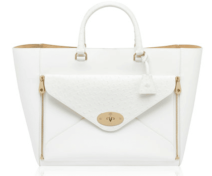 66286451d0 ... france mulberry white classic calf and ostrich willow tote bag 87ade  54f68