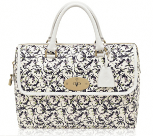 Mulberry White Mini Gecko Print Leather Del Rey Bag