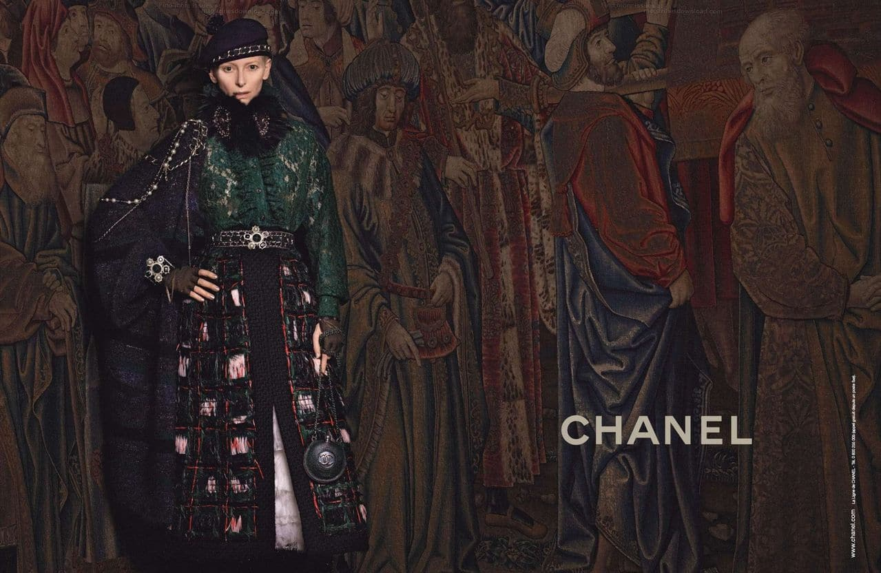 Tilda Swinton, The New Face of Chanel for Her Collection Pre-Fall 2013 Paris-Edinburgh