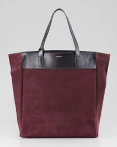 Saint Laurent Red/Black Classic North-South Shopping Bag