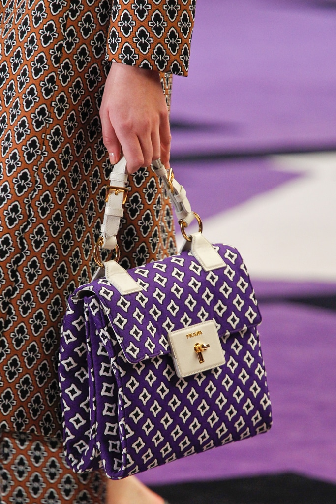 Prada Violet Printed Flap Bag - Fall 2012 df380e888ec3d
