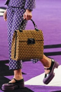 Prada Yellow/Brown Printed Flap Bag - Fall 2012