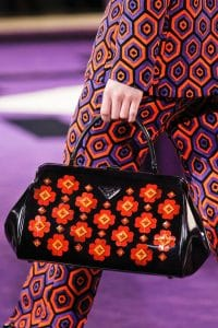 Prada Black Floral Printed Doctor Bag - Fall 2012