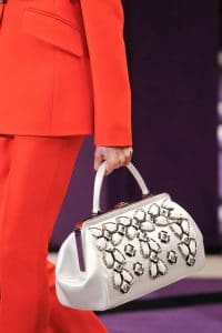 Prada White Embellished Doctor Bag - Fall 2012