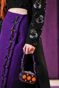 Prada Violet Floral Printed Mini Bag - Fall 2012