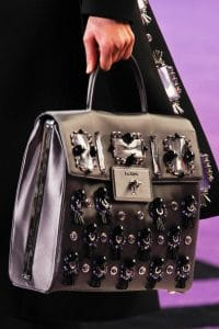 Prada Silver Embellished Flap Bag - Fall 2012