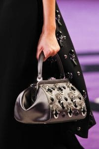 Prada Silver Embellished Doctor Bag - Fall 2012