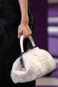 Prada White Fur Doctor Bag - Fall 2012