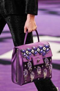 Prada Violet Embellished Flap Bag - Fall 2012