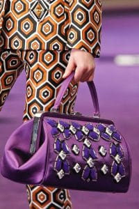 Prada Violet Embellished Doctor Bag - Fall 2012