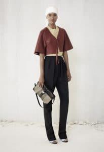 Balenciaga Black/Khaki Flap Bag 2