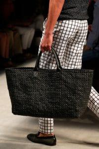 Bottega Veneta Black Intrecciato Tote Bag - Spring 2014