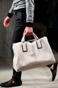 Bottega Veneta White Croc Tote Bag - Spring 2014