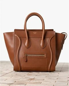 Celine Baby Calfskin Brown Mini Luggage Bag - Winter 2013