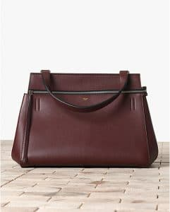Celine Dark Brown Oxblood Edge Bag - Winter 2013