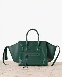 Celine Emerald Green Calfskin Phantom Bag - Winter 2013
