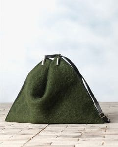Celine Green Mohair Fortune Cookie Shoulder Bag - Winter 2013