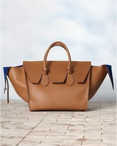 Celine Tie Natural Brown Calfskin Tote Bag - Winter 2013