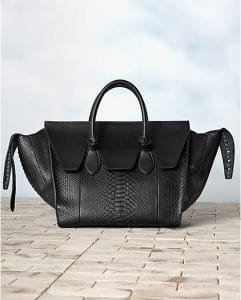 Celine Tie Python Black Tote Bag - Winter 2013