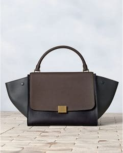 Celine Tricolor Anthracite Trapeze Bag - Winter 2013