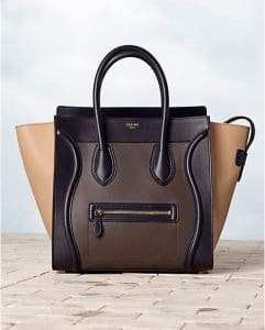 Celine Tricolor Brown Anthracite Mini Luggage Bag - Winter 2013