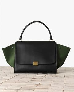 Celine Tricolor Emerald Green Calfskin Bag - Winter 2013