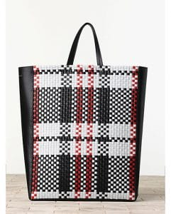 Celine Woven Checkered Cabas Tote Bag - Winter 2013